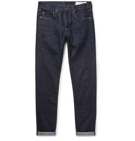 rag & bone - Fit 1 Skinny-Fit Selvedge Stretch-Denim Jeans - Men - Dark denim