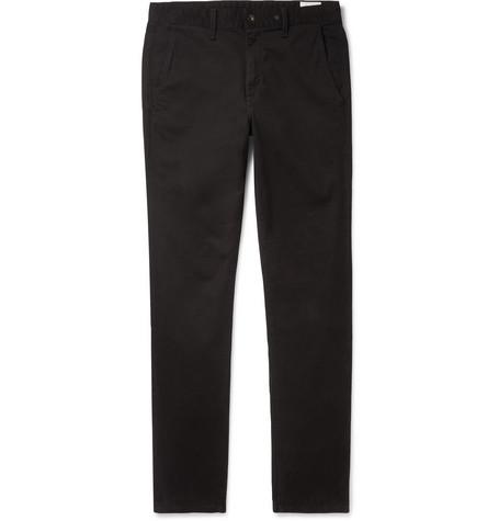 rag & bone - Fit 2 Slim-Fit Garment-Dyed Cotton-Blend Twill Chinos - Men - Black