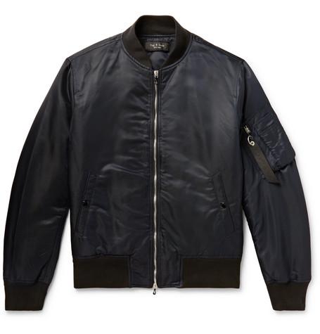 rag & bone - Manston Nylon Bomber Jacket - Men - Black