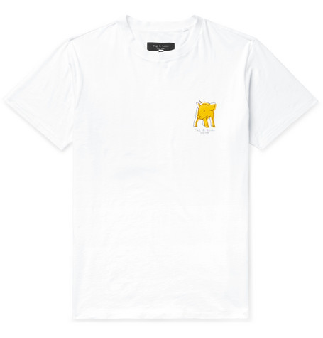rag & bone - Printed Cotton-Jersey T-Shirt - Men - White