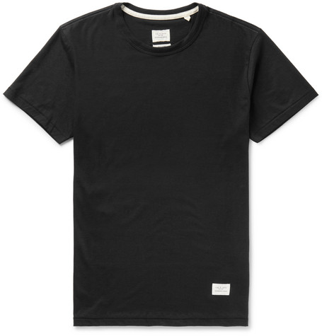 rag & bone - Standard Issue Cotton-Jersey T-Shirt - Men - Black