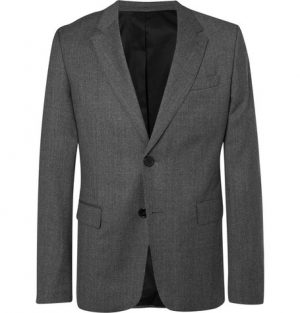 AMI - Grey Slim-Fit Mélange Virgin Wool Suit Jacket - Men - Gray