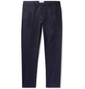 AMI - Navy Slim-Fit Cotton-Twill Chinos - Men - Navy