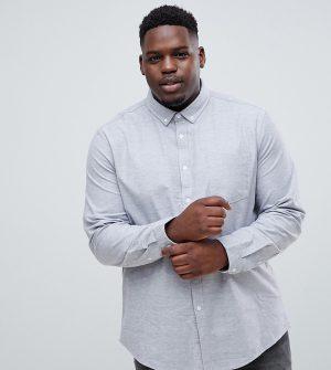 ASOS DESIGN Plus regular oxford shirt in gray yarn dye - Gray