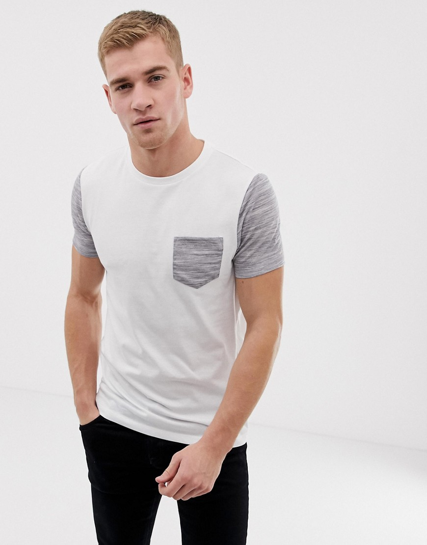 50b3d5f2 ASOS DESIGN t-shirt with pocket in interest fabric in white – White | The  Fashionisto