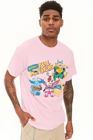 Aaahh!!! Real Monsters Graphic Tee at Forever 21 Pink/yellow