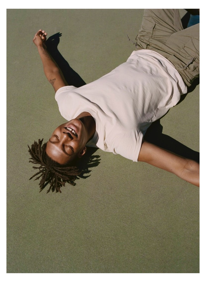 All smiles, Ty Ogunkoya fronts Abercrombie & Fitch's spring 2019 digital campaign.
