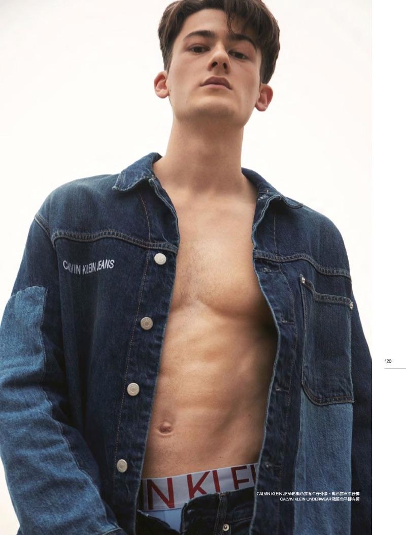 Adam Newman Rocks Calvin Klein Jeans for Men's Uno Hong Kong