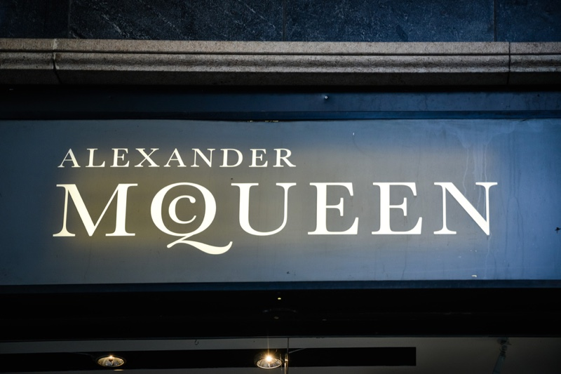 Alexander McQueen Storefront Logo