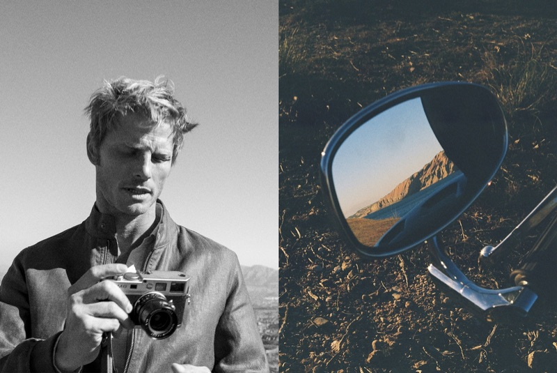 Taking photos, Arnaud Lemaire dons Massimo Dutti.