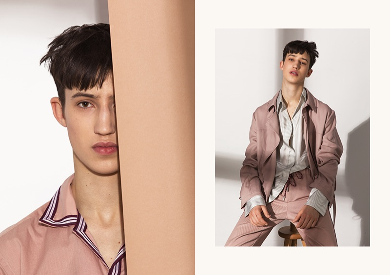 Fresh face Fausto Sylvester wears covetable spring-summer 2019 fashions from BOSS.