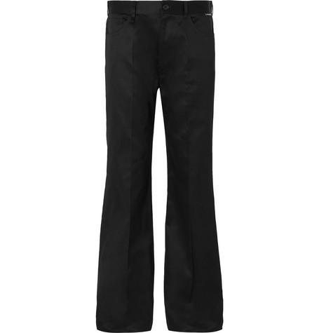 Balenciaga - Black Wide-Leg Cotton-Twill Trousers - Men - Black