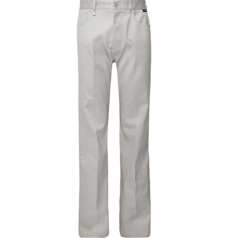 Balenciaga - Light-Grey Wide-Leg Cotton-Twill Trousers - Men - Light gray