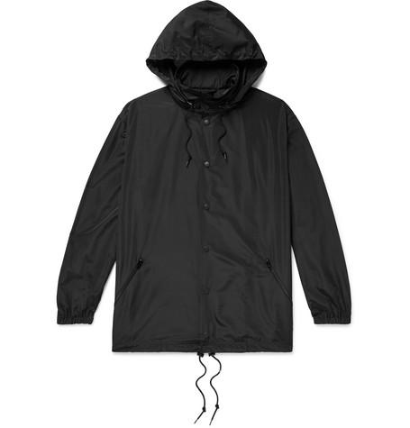 Balenciaga - Oversized Logo-Embroidered Shell Hooded Jacket - Men - Black