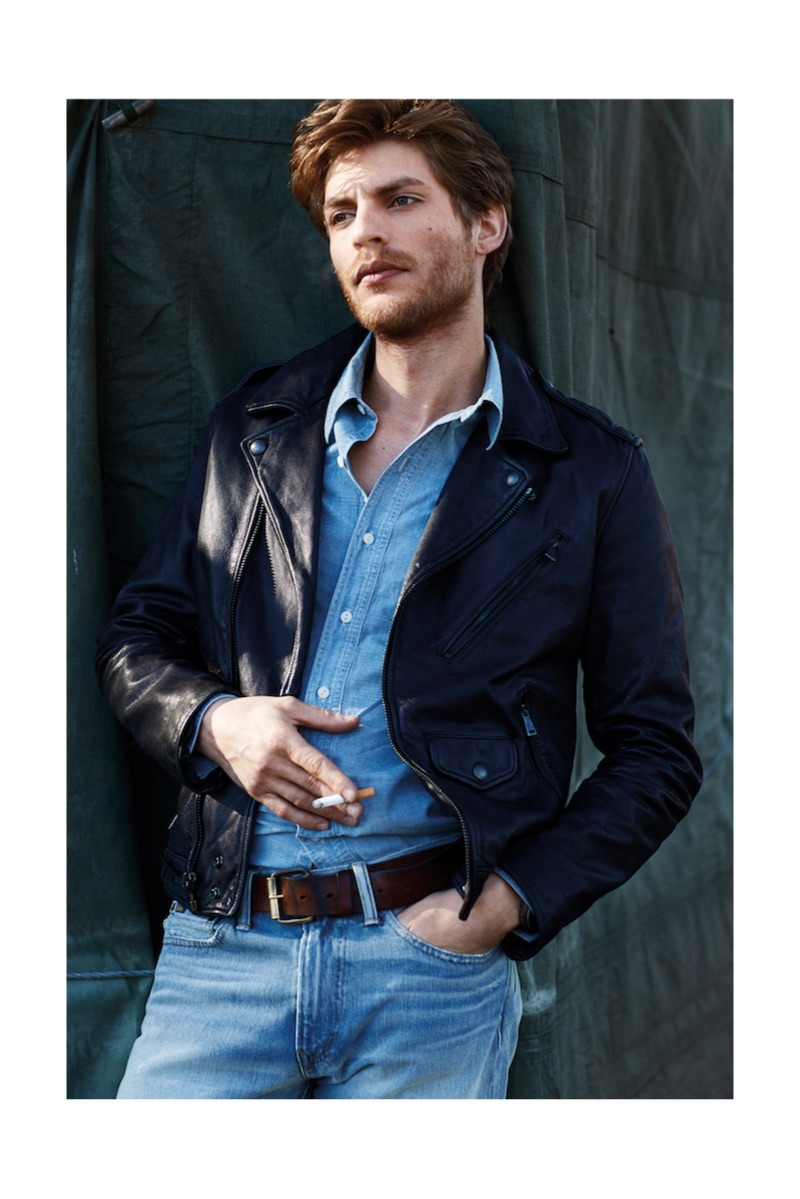 Baptiste Radufe Channels Effortless Cool in Leather & Denim for The Rake