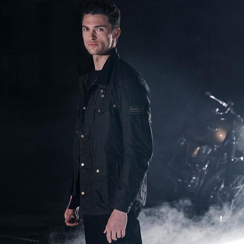 British model Harvey Haydon is a cool vision for Barbour International.