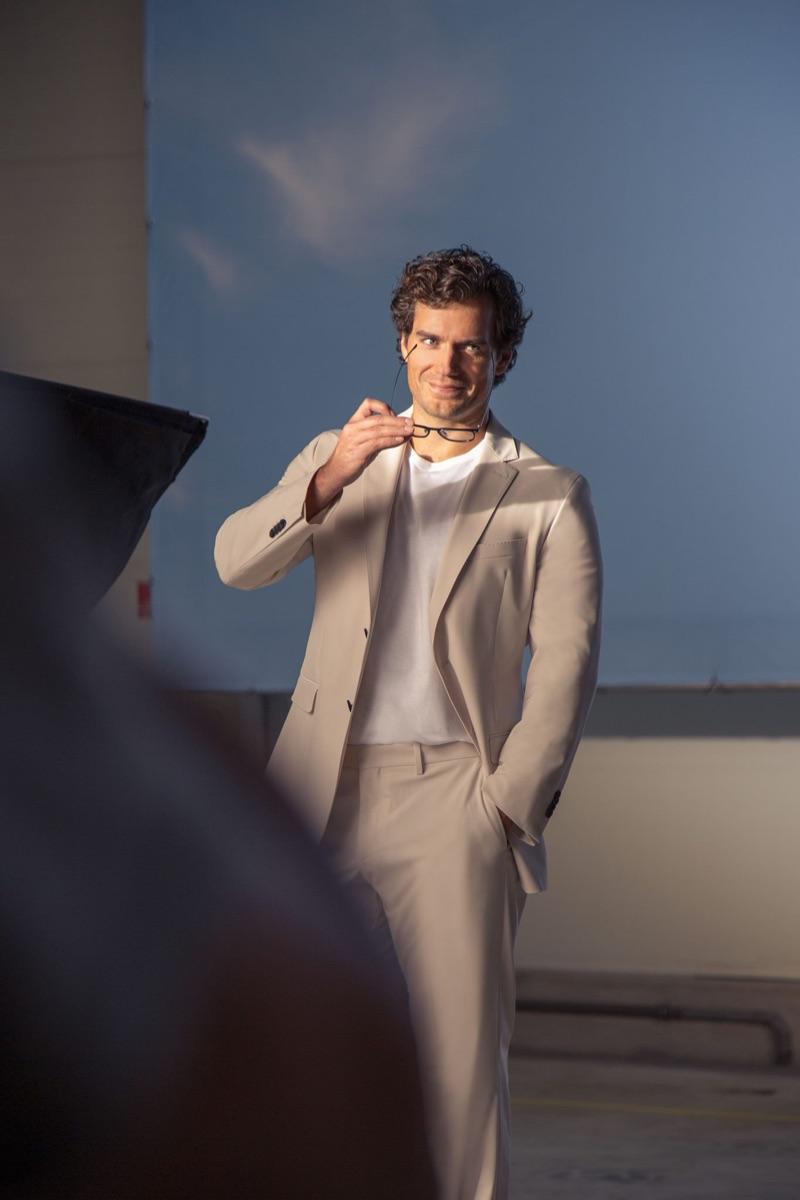 Captured behind the scenes, Henry Cavill shoots BOSS' spring-summer 2019 eyewear campaign.