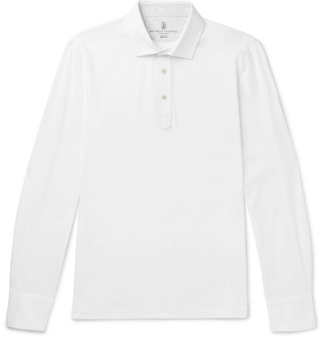 Brunello Cucinelli - Cotton-Jersey Polo Shirt - Men - White