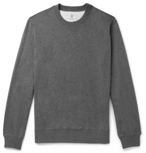 Brunello Cucinelli - Cotton-Jersey Sweatshirt - Men - Gray