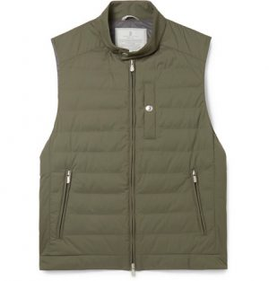 Brunello Cucinelli - Quilted Shell Down Gilet - Men - Green