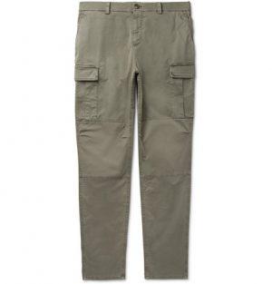 Brunello Cucinelli - Stretch-Cotton Cargo Trousers - Men - Green