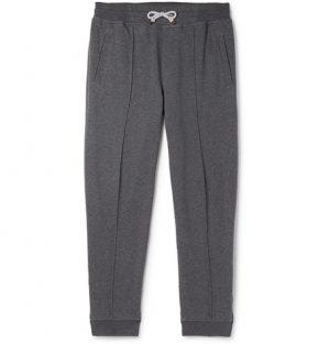 Brunello Cucinelli - Tapered Cotton-Blend Jersey Sweatpants - Men - Gray