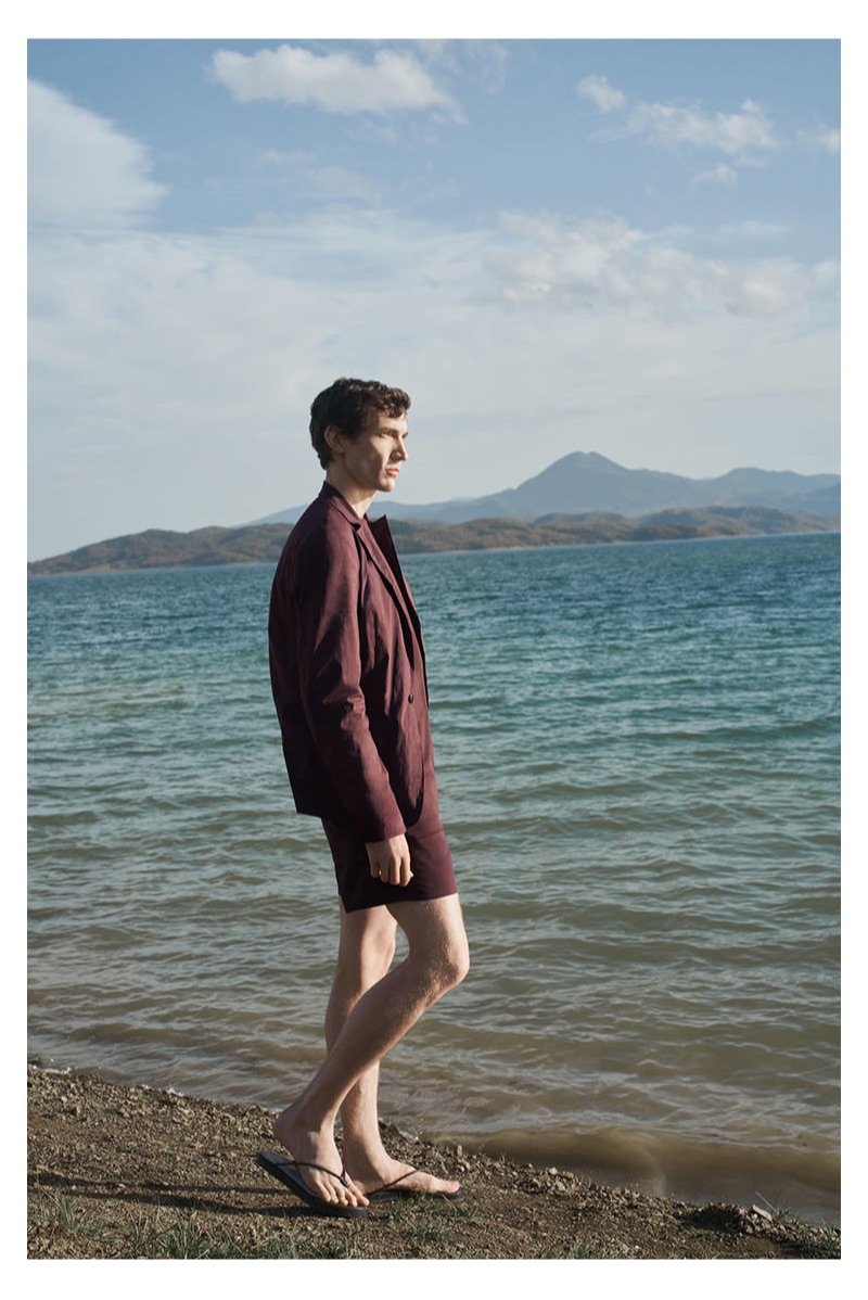 Model Thilo Muller appears in COS' spring-summer 2019 campaign.