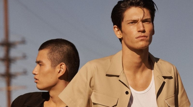 Models Kohei Takabatake and Justin Eric Martin come together for Calvin Klein's spring-summer 2019 watches campaign.