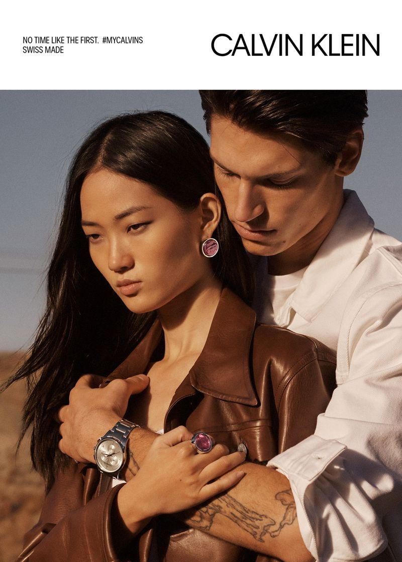 Ash Foo and Justin Eric Martin stars in Calvin Klein's spring-summer 2019 watches campaign.