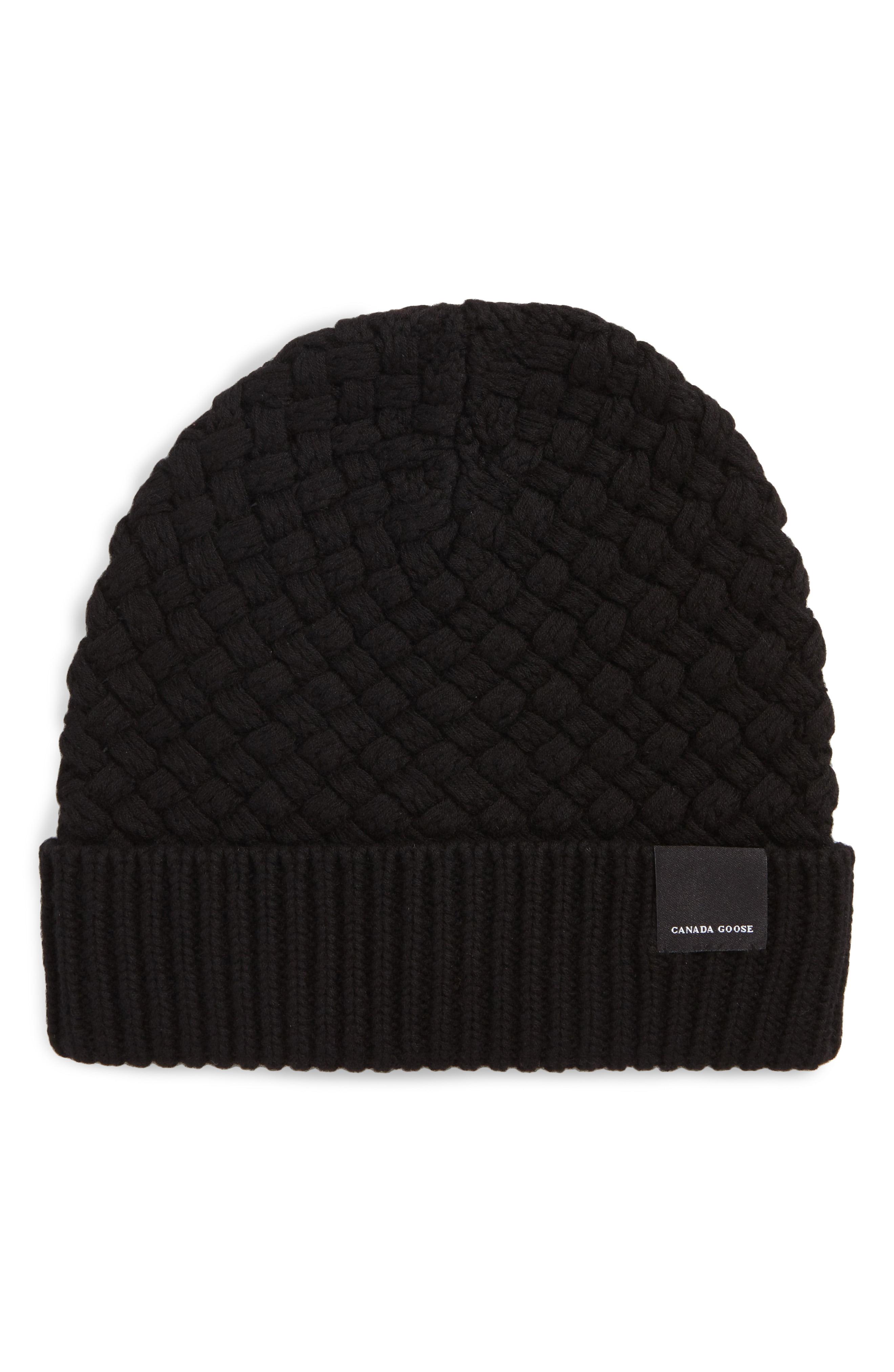 9615eab7d4a Canada Goose Merino Wool Basket Stitch Beanie –