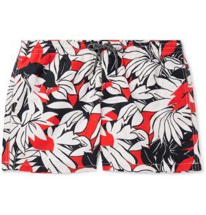 Club Monaco - Arlen Mid-Length Printed Swim Shorts - Men - Multi