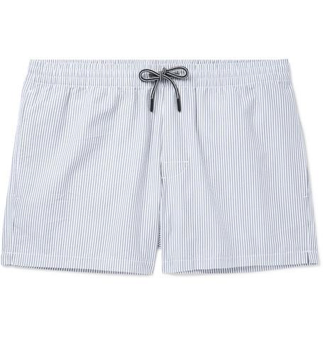 a9b4fcd176 Club Monaco – Arlen Mid-Length Striped Seersucker Swim Shorts – Men – Light  gray