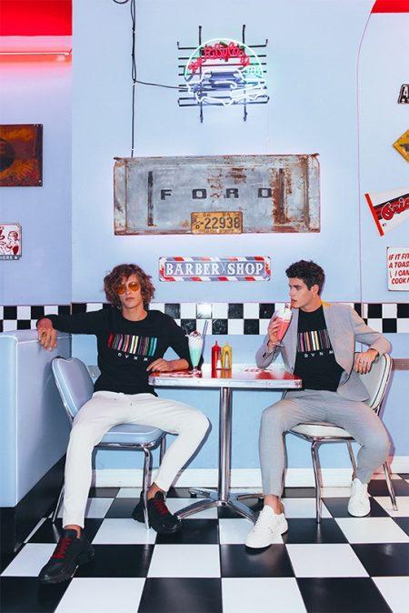 Umberto Manca & Raphaël Say Take to Diner for David Naman Spring '19 Campaign
