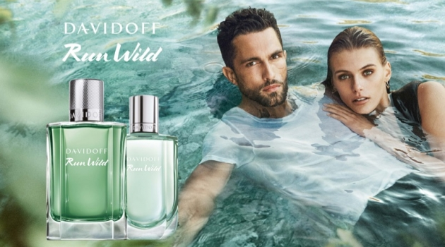Tobias Sorensen and Madison Headrick front the Davidoff Run Wild fragrance campaign.