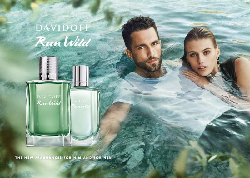 Tobias Sorensen and Madison Headrick front the Davidoff Run Wild fragrance campaign.