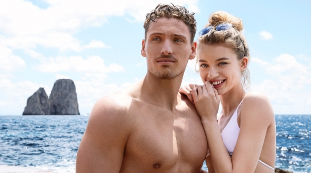 Gennaro Lillio and Giulia Maenza star in the Dolce & Gabbana Light Blue Sun fragrance campaign.