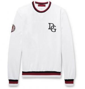 Dolce & Gabbana - Printed Loopback Cotton-Blend Sweatshirt - Men - White
