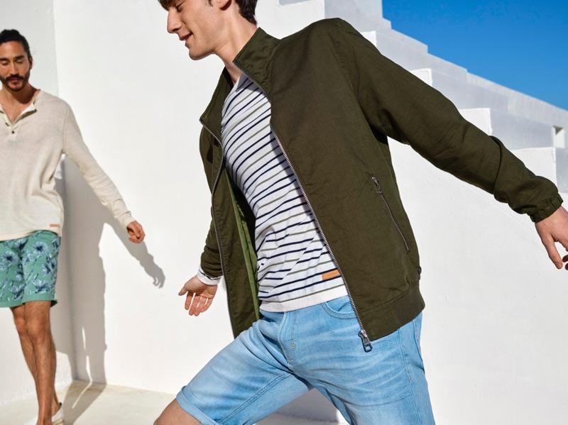 Matt Doran joins Tony Thornburg for Esprit's spring-summer 2019 campaign.
