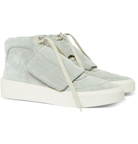 Fear of God - Brushed-Suede High-Top Sneakers - Men - Gray