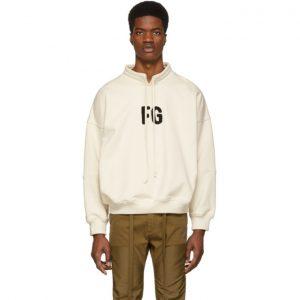 Fear of God Off-White FG Mock Neck Sweatshirt