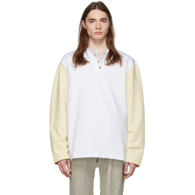 ee2736d350 Fear of God White and Beige Long Sleeve Henley   The Fashionisto