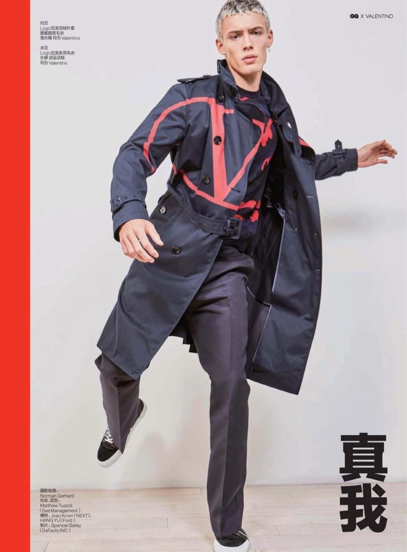 Step Up: João Knorr & Hang Yu Model Valentino for GQ China