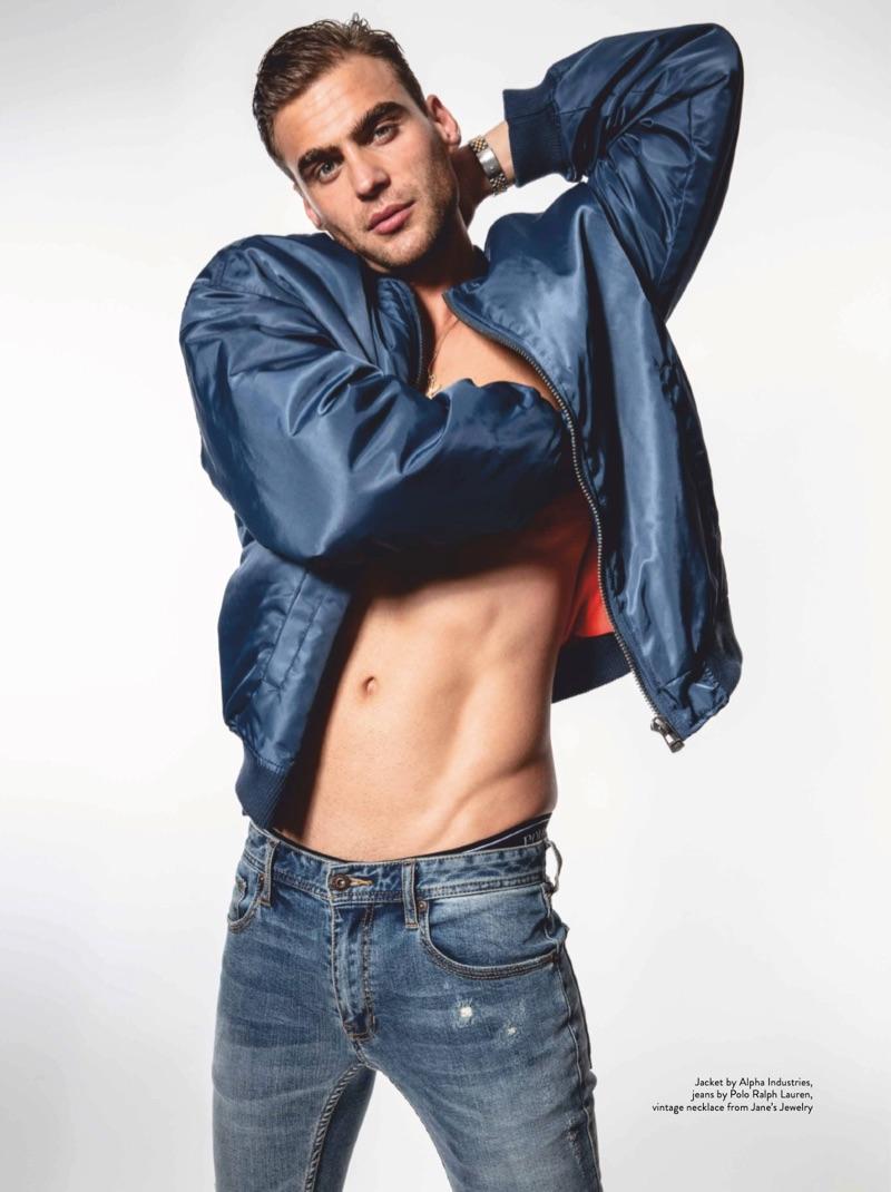 Shirtless George Alsford Model Shoot