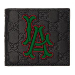 Gucci Black LA Angels Edition GG Wallet
