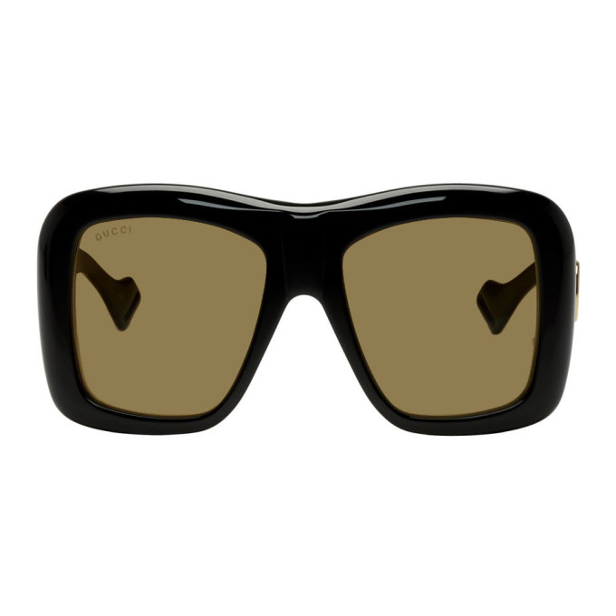 6b29281f31bd5 Gucci Black Oversized Square Sunglasses