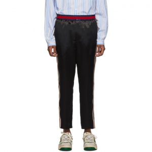 Gucci Black Satin Trousers