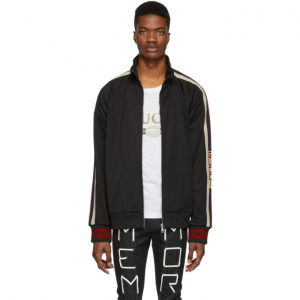 Gucci Black Technical Logo Track Jacket