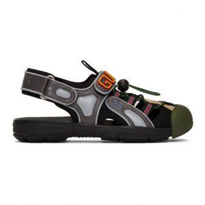 Gucci Black Tinsel Sandals