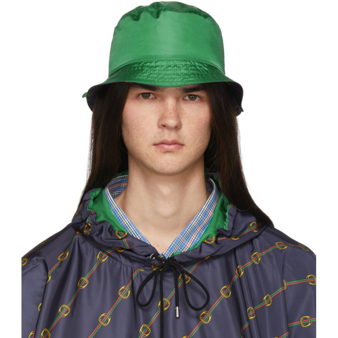 3813f434f Gucci Reversible Green Nylon Bucket Hat