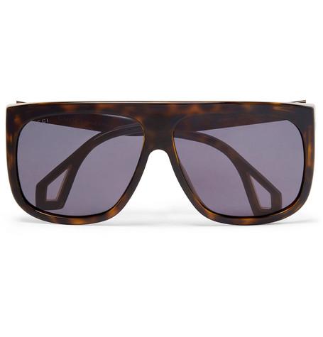c4dc0333568 Gucci – Square-Frame Tortoiseshell Acetate Sunglasses – Men – Tortoiseshell